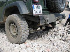 Bumper met zware sleepogen en Nato koppeling