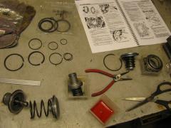 Schoonmaken, nameten en voorzien van nieuwe onderdelen