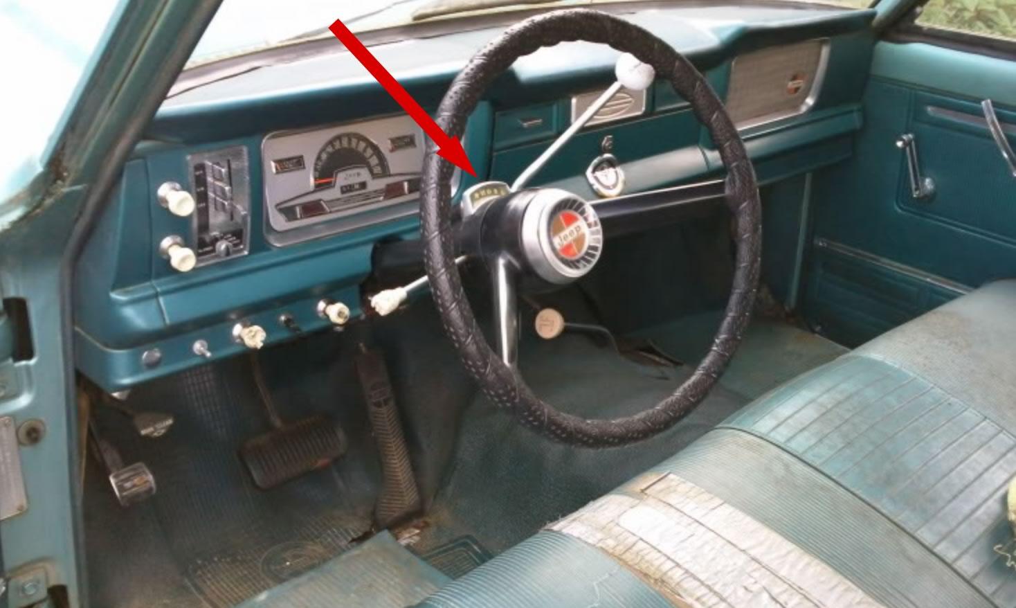Te koop gevraagd: Column shift indicator voor Wagoneer 1971